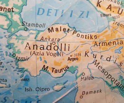 Prizren'de tepki çeken Türkiye haritası