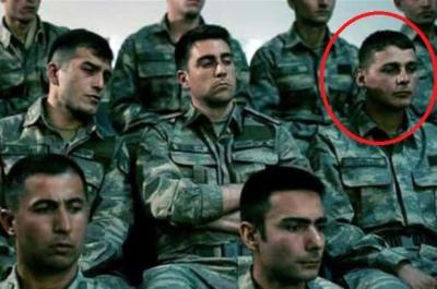 Şehit asker Dağ 2 filminde rol almış
