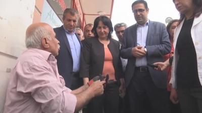 Sur'da HDP'li vekillere protesto!