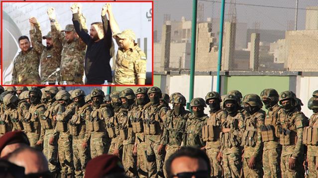 Suriye Milli Ordusu çatısı altında faaliyet gösteren 5 askeri grup, TSK ile omuz omuza görev yapacak