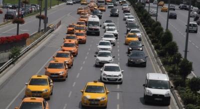 Taksicilerden sevinç konvoyu!