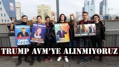 Trump sevdalıları Trump'ın AVM'sine giremedi