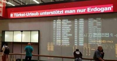 Viyana Havalimanı'ndaki o yazı kaldırıldı!