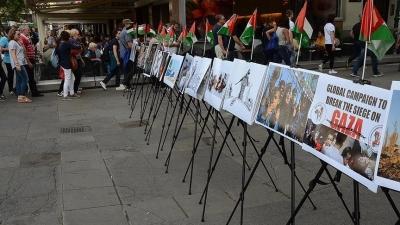 Viyana'da Gazze ablukasına protesto
