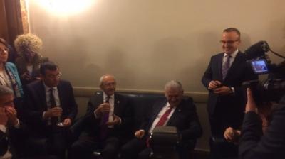 Yıldırım ve Kılıçdaroğlu'nun meclis görüşmesi