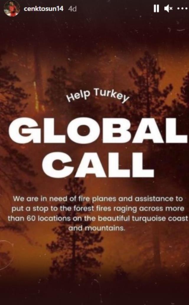 Türk sporunun önemli isimleri, ülkemizdeki yangınlar için dünyaya seslendi