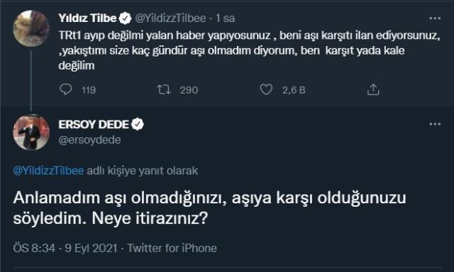 Yıldız Tilbe ve Ersoy Dede, sosyal medyada karşı karşıya geldi