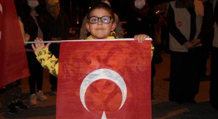 Nevşehirde Filistine destek gösterisi